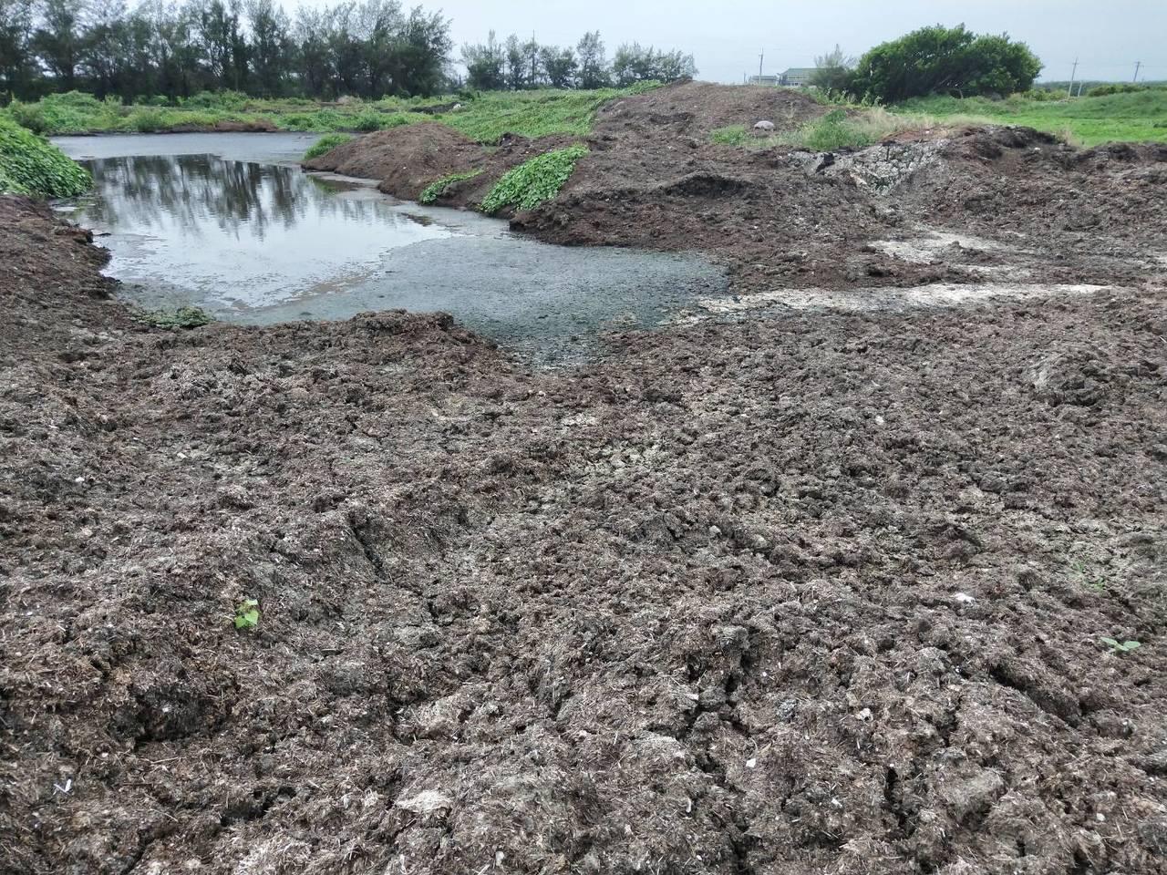 彰化縣芳苑鄉又有10筆農地被非法堆置食品業者生產後的汙泥,現場已產生發臭的汙水。...