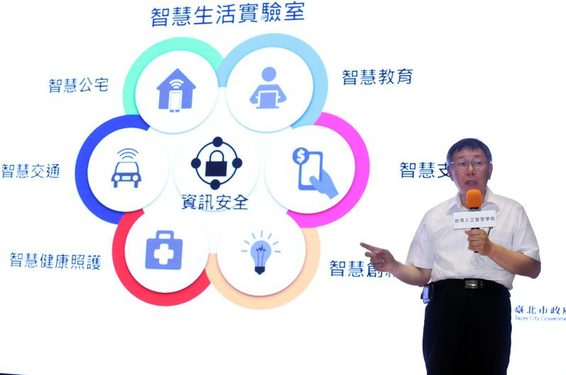 台北市長柯文哲分享如何應用人工智慧,打造智慧城市。記者曾吉松/攝影