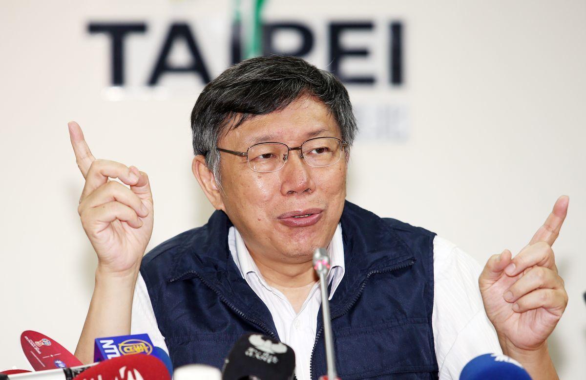 台北市長柯文哲昨表示,政府救災其實有既定的SOP運作,不應是首長事必躬親。圖/聯...