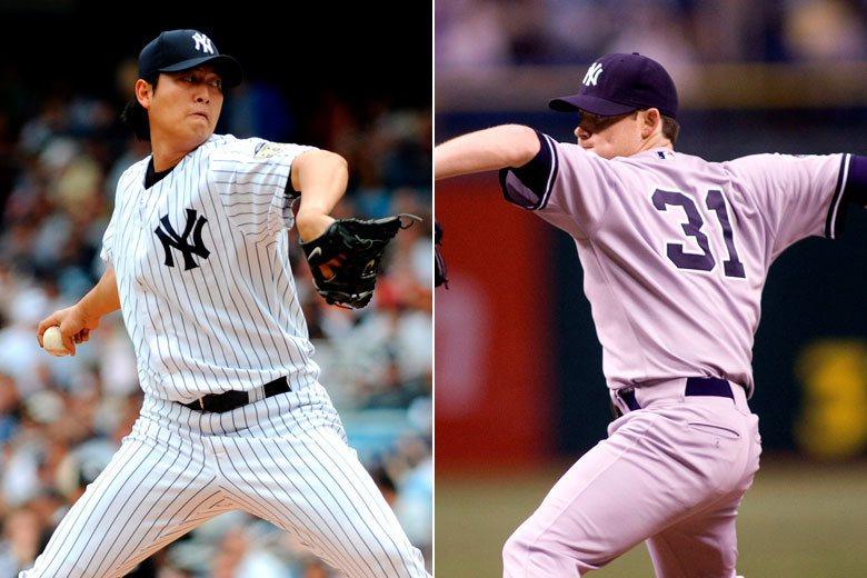 王建民(左)與甘迺迪(右)在2009年季後同時離開洋基,各自開始一段奇幻的旅程,...
