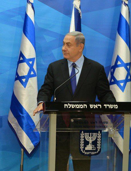 以色列總理內唐亞胡在位超過13年,近年醜聞逐漸增多。(photo by Wiki...
