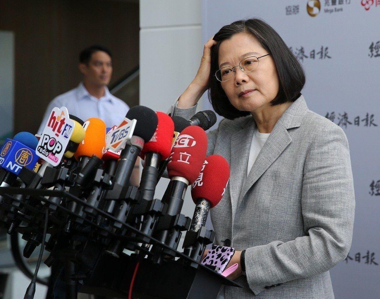 總統蔡英文今天表示,2020總統大選,台灣選民會聚焦在國家的未來,尤其是民主自由...