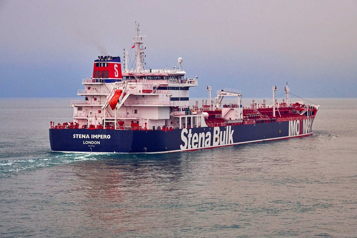 伊朗革命衛隊19日扣押一艘掛英國旗的油輪「史丹納帝國號」(Stena Imper...