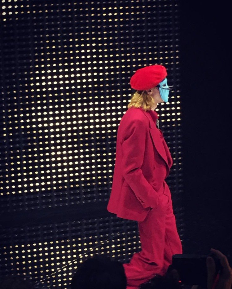 Gucci秋冬時裝秀上,面具就是重點造型元素。記者吳曉涵/攝影