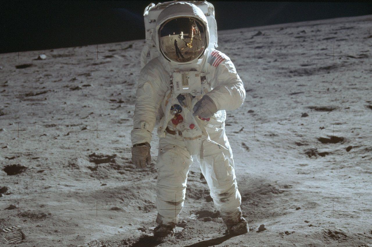 7月20日是人類首度成功登月50周年,美國與全球各地都舉行紀念儀式。圖為阿波羅1...