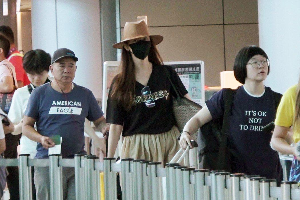 林志玲「孕」味十足的照片。圖/CFP