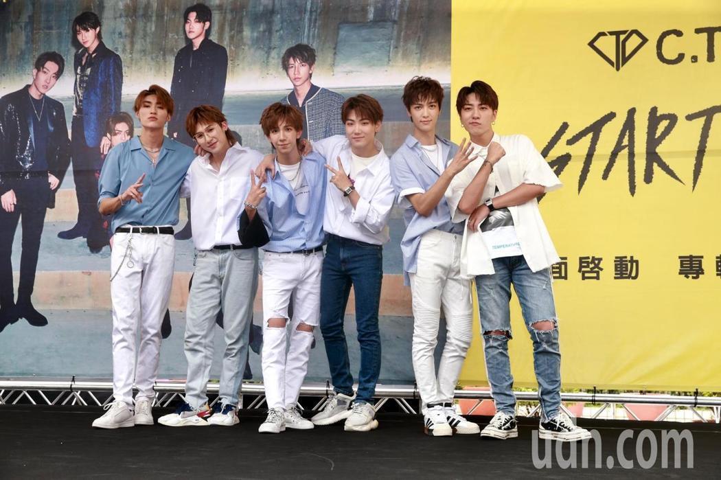 男團C.T.O成員薛恩(左起)、宇慶、仕偉、振緯、梓鑫、梓寧。記者黃義書/攝影