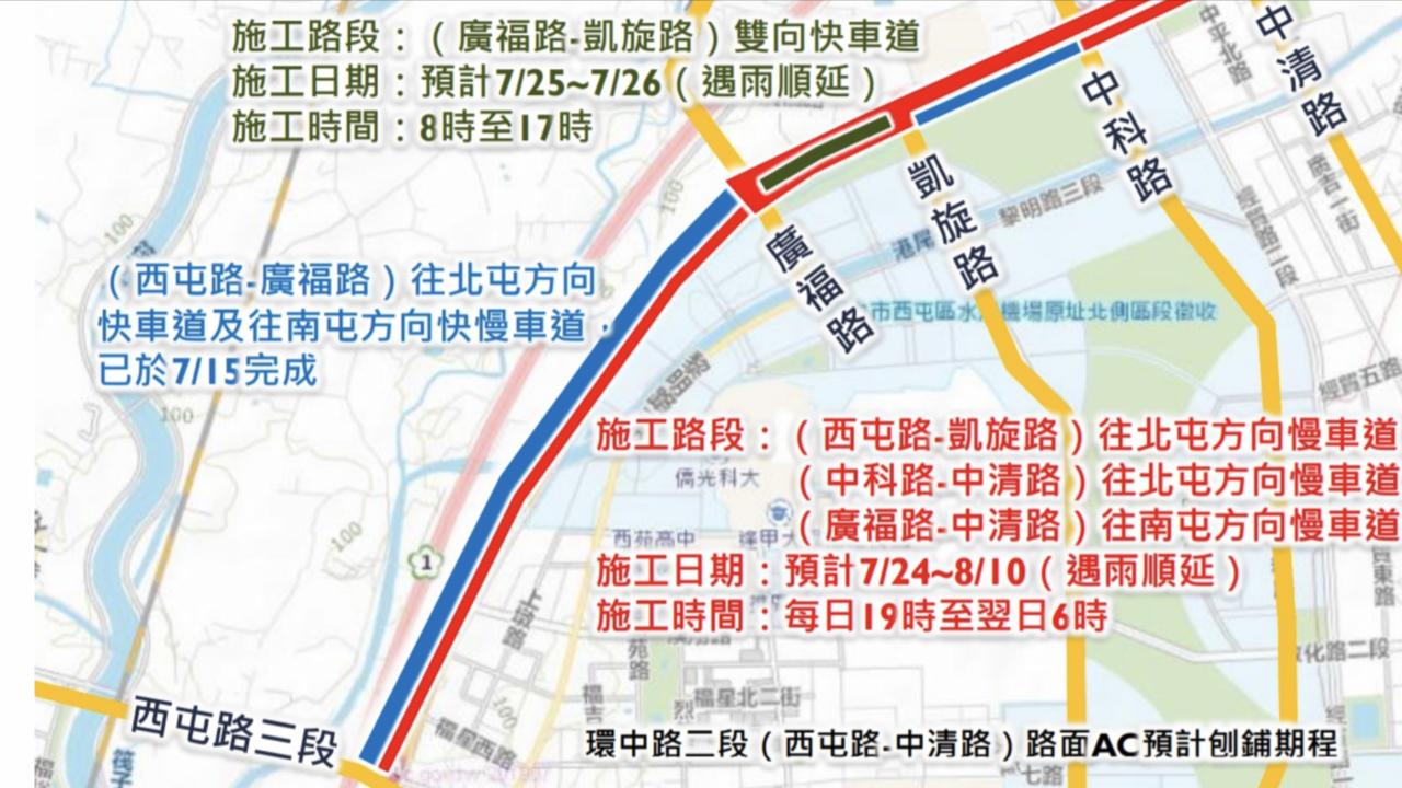 環中路路平期程。圖 /建設局提供