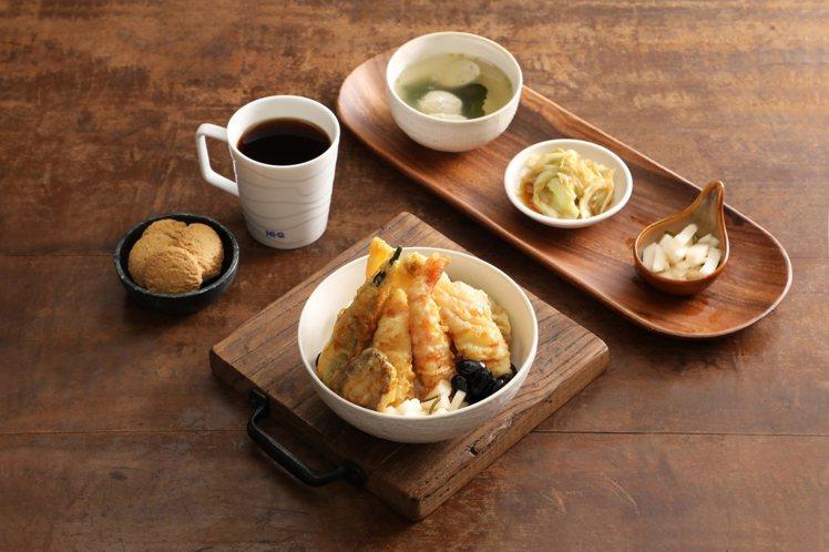 Hi-Q鱻食「褐藻天丼定食」售價320元。圖/業者提供