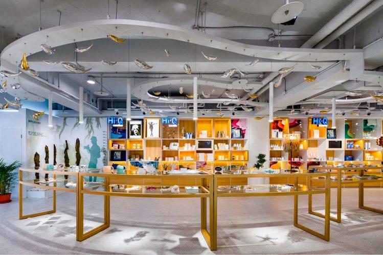Hi-Q褐藻生活館1樓商品展售區。圖/業者提供