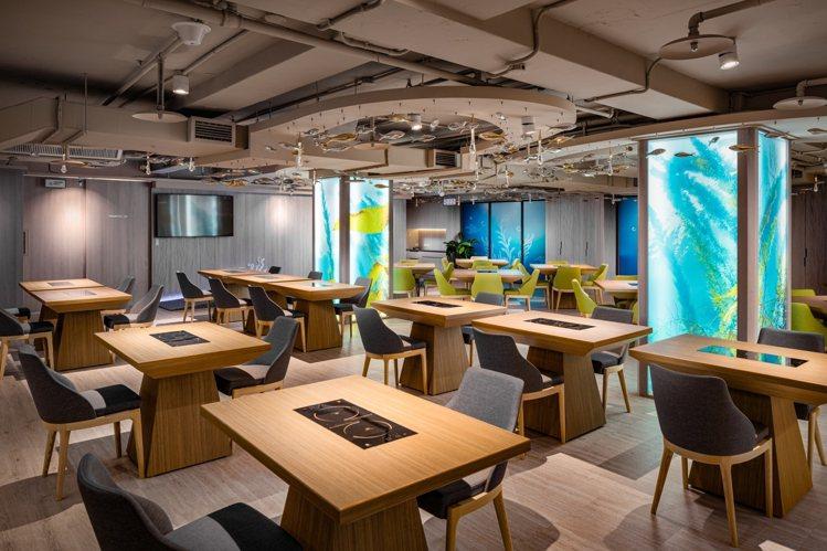 Hi-Q鱻食B1餐廳用餐區。圖/業者提供