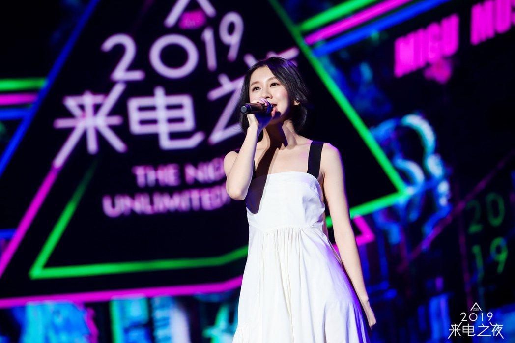 白安在「2019來電之夜」活動演唱數首歌曲。圖/相信提供