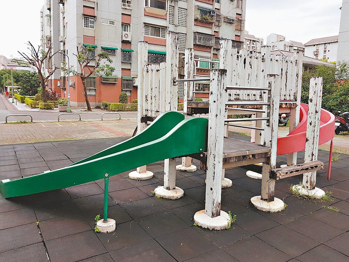 內湖有兒童遊具是已裁撤的北市國宅處所打造,設在國宅基地開放給公眾使用的空間,如今...