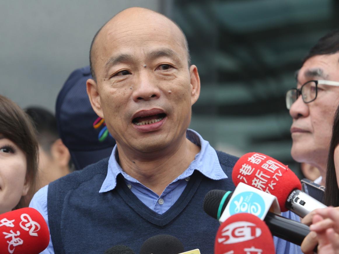 高雄市長韓國瑜表示,希望民進黨政府勿假借國安之名唐突立法,製造對立。 圖/聯合報...