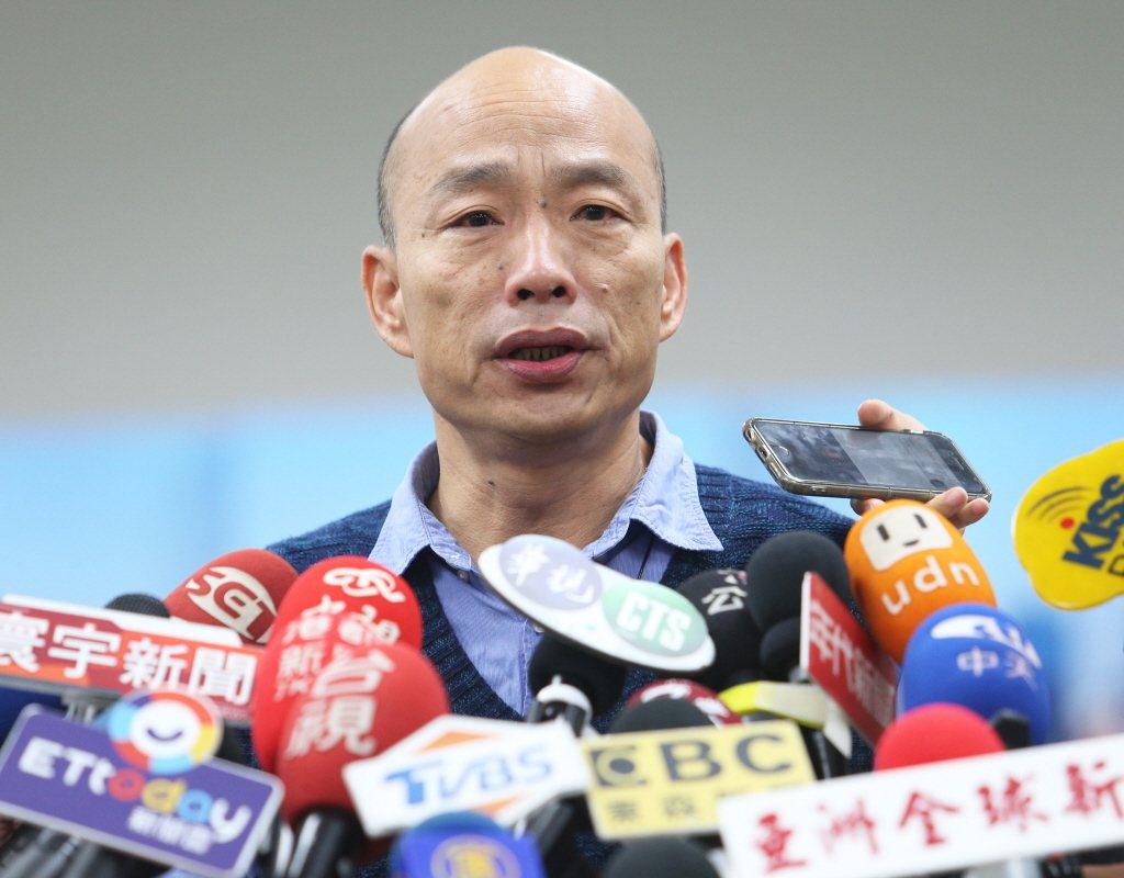 高雄市長韓國瑜。 聯合報系資料照片/記者劉學聖攝影