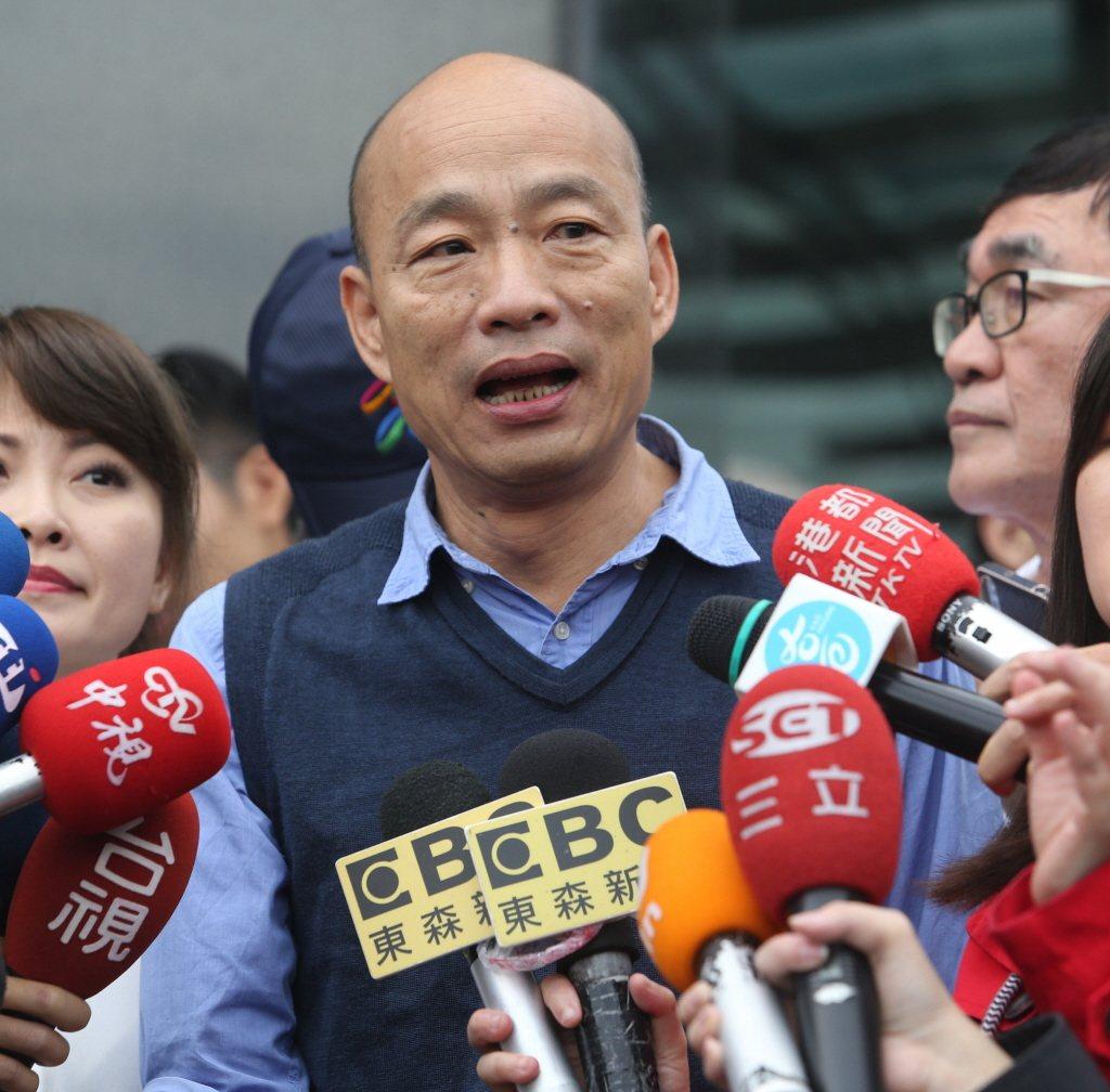 高雄市長韓國瑜接受專訪。 聯合報系資料照片/記者劉學聖攝影