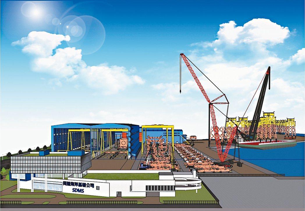 興達海基公司廠房模擬示意圖。 中鋼/提供