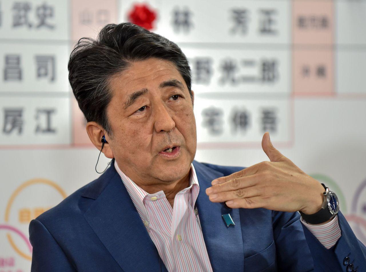 安倍晉三贏得參院改選,南韓憂將追加經濟制裁。圖/聯合報系資料庫
