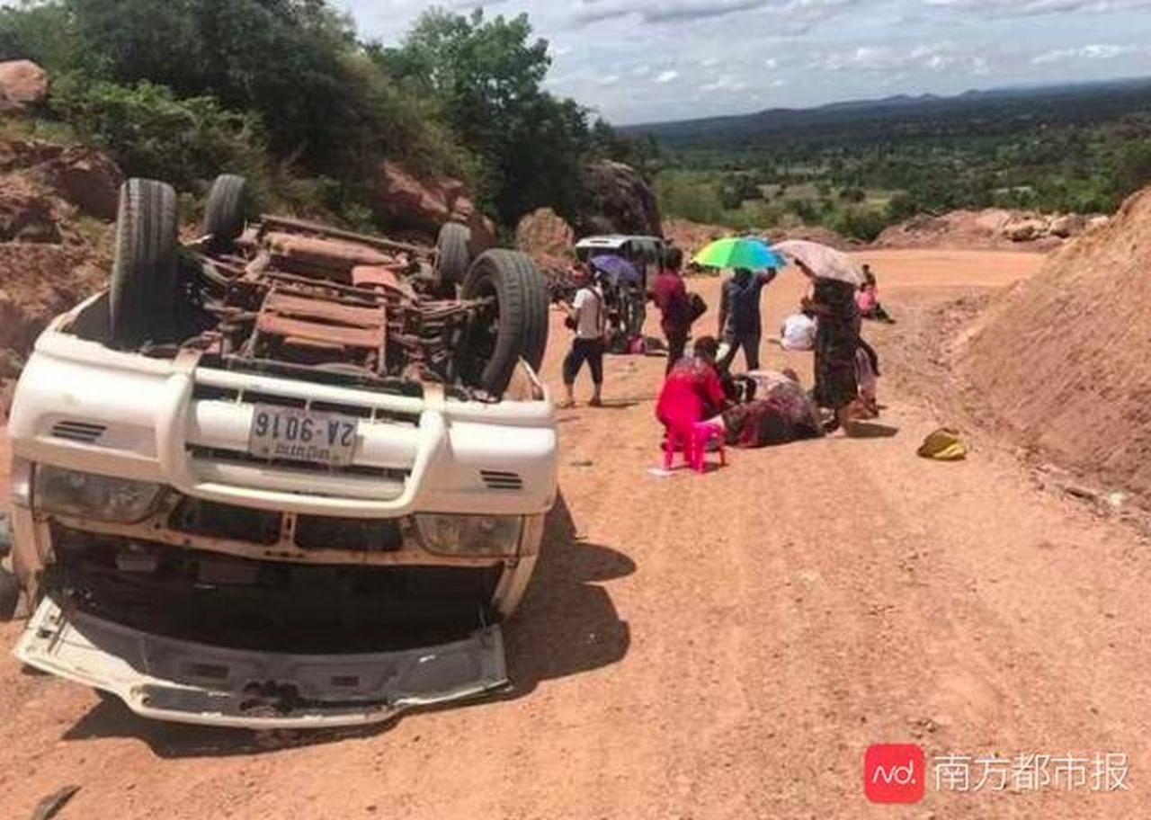 中國遊客柬埔寨遇車禍2死8重傷柬籍汽車司機逃逸 (取材自南方都市報)