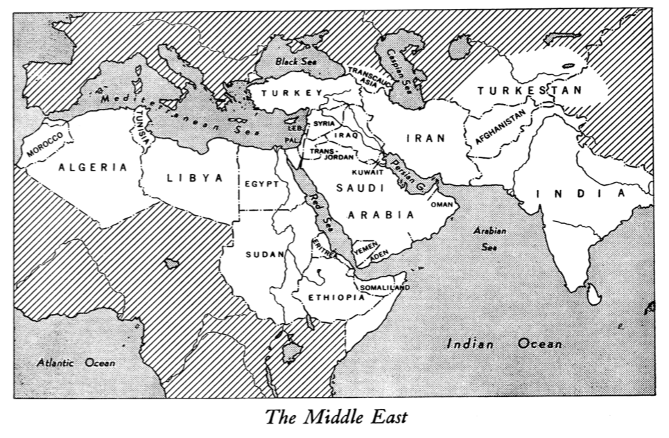 1947年出版的《中東研究期刊》(The Middle East Journal)
