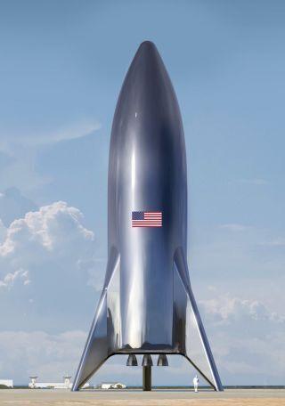 "SpaceX的大型火箭""Starship""的原型機「Hopper」,用來測試垂直起降的功能。。"