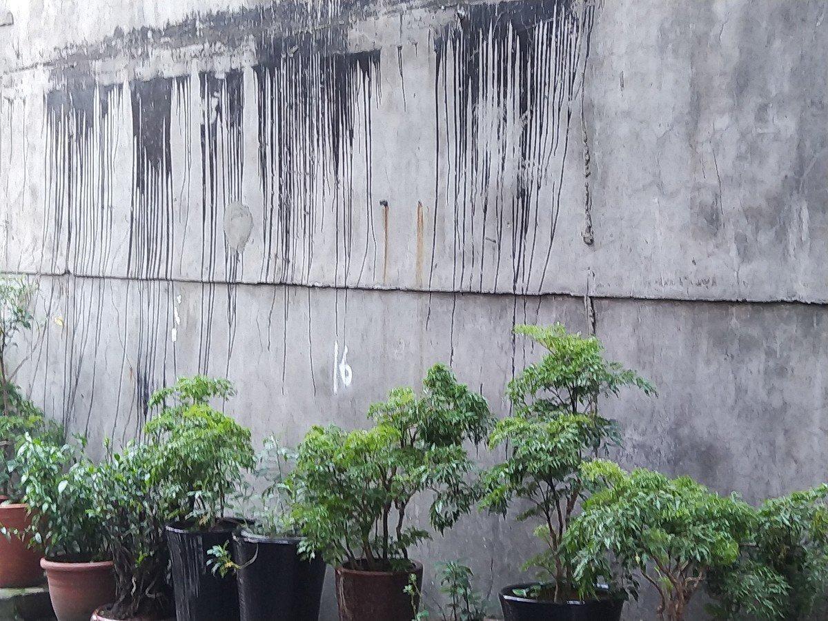 新莊區光正里長陳通助要將一面160公分的水泥牆要彩繪成農村美景,增加視野景觀,該...