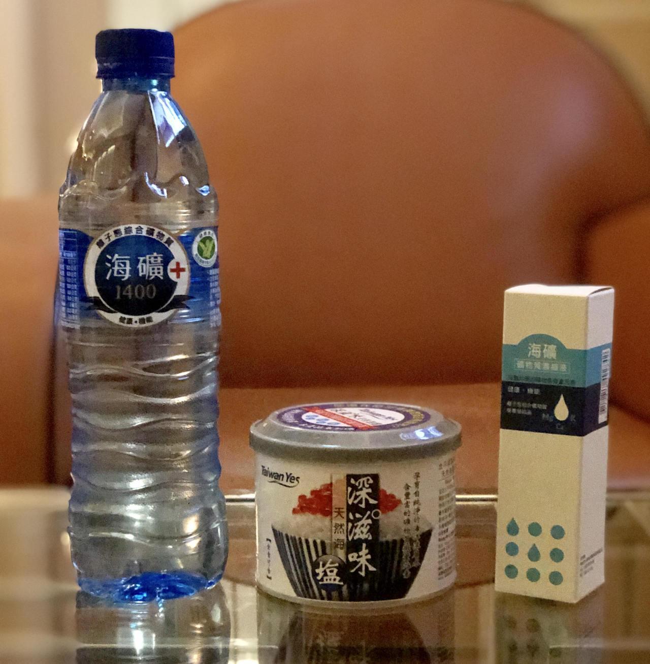 台灣海洋深層水公司取自太平洋深海,所製造而成的三項核心產品,包括海礦1400+礦...