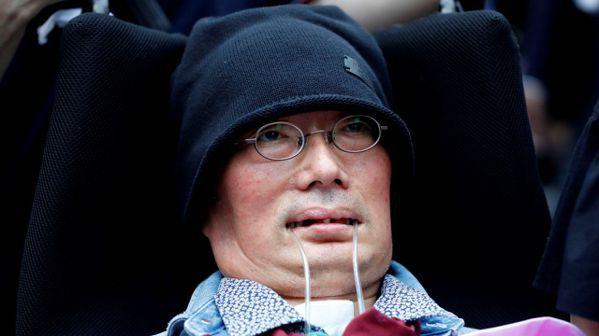 圖五:政治團體令和新選組一席由罹患漸凍人症的舩後靖彥當選。 (路透)