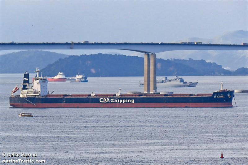 南韓CK Bluebell號貨船。截自網路