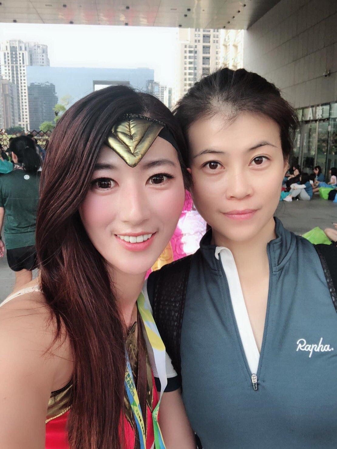 單車界神力女超人陳榆妡,熱受運動也熱心公益。圖/陳榆妡提供