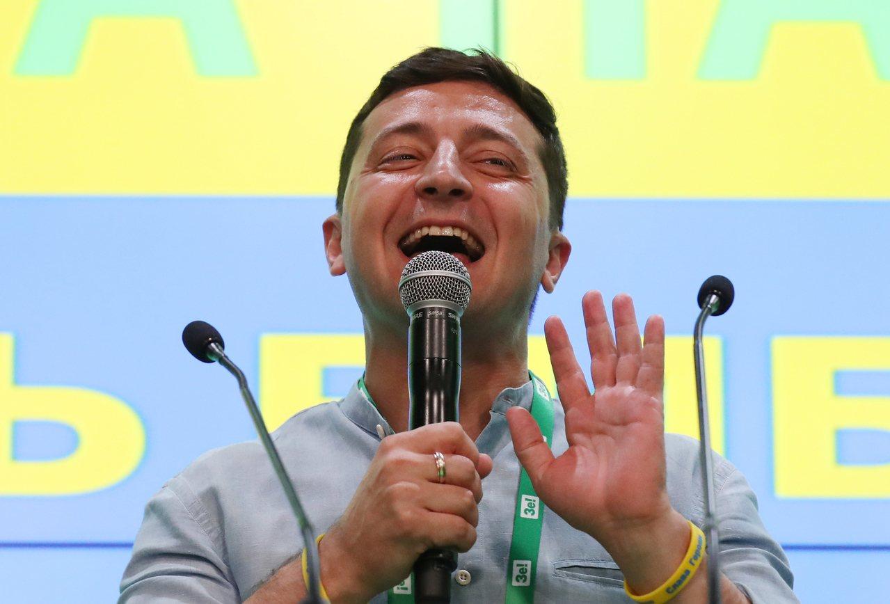 烏克蘭21日舉行國會大選,新總統澤倫斯基所屬政黨「人民公僕黨」在政黨席次部分,得...