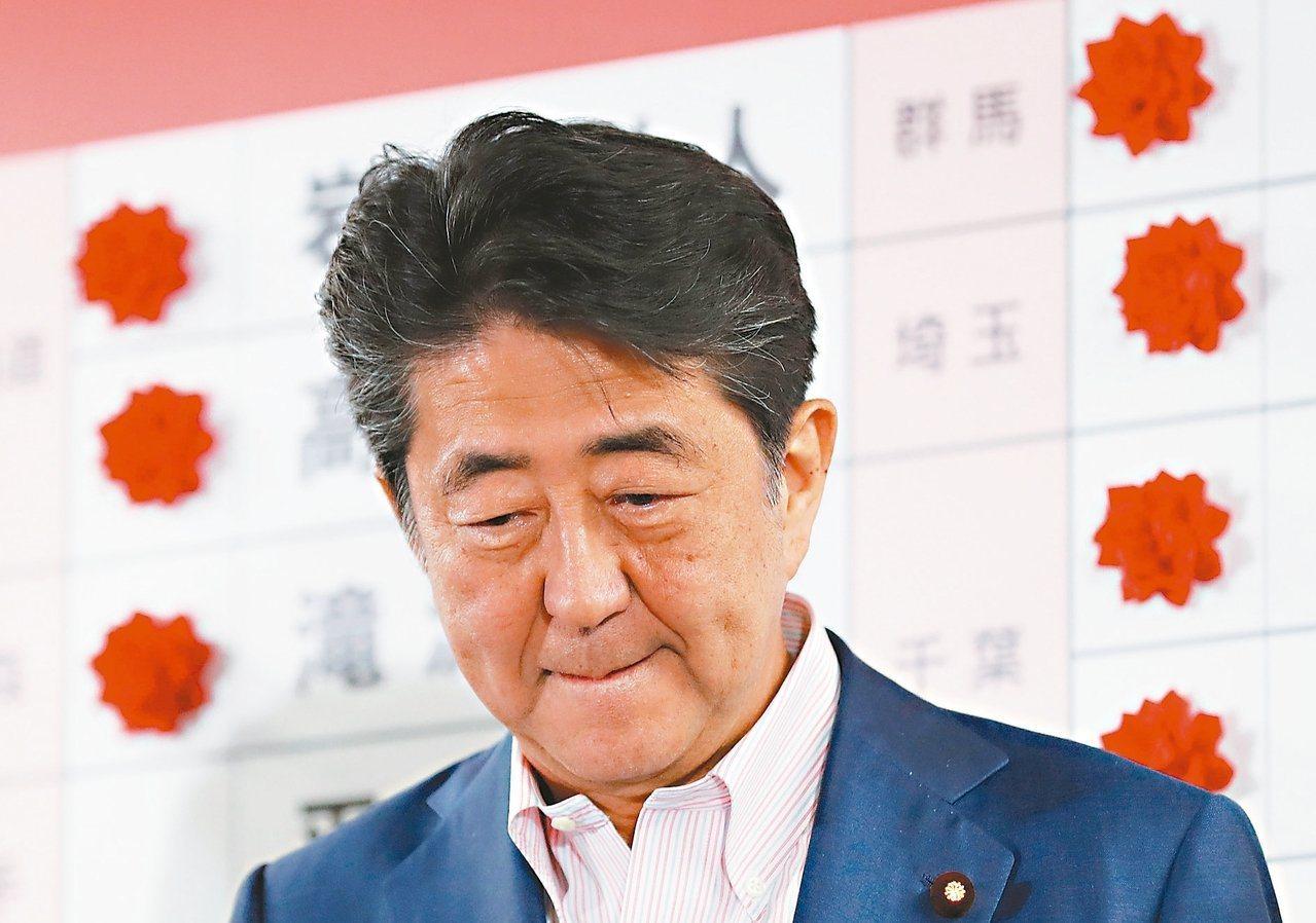 日本參議院改選結果,對安倍來說,一則以喜,一則以憂。路透資料照片