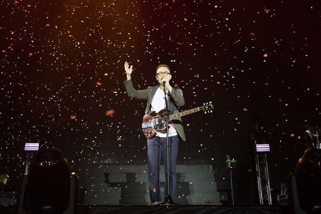 羅大佑在澳門舉辦「當年離家的年輕人2.0 - 青春無悔追夢版」演唱會。圖/種子提...