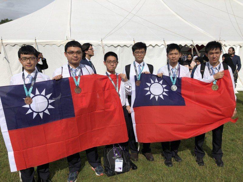 第60屆國際數學奧林匹亞競賽昨天在英國巴斯舉行,我國代表隊奪下1金、2銀及3銅成...