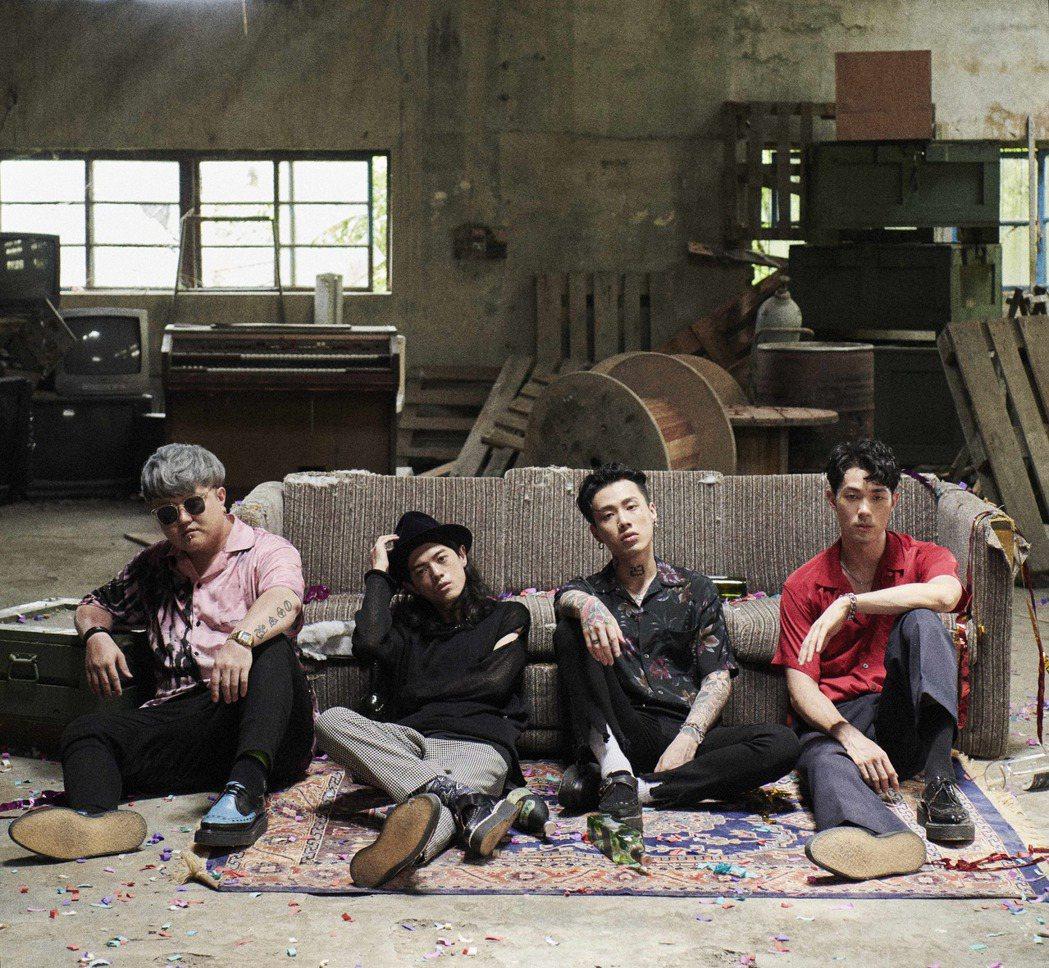 TRASH樂團推出新歌「重感情的廢物」。圖/華納提供