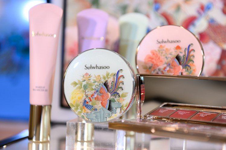 雪花秀鳳凰于飛系列限量彩妝,粉盒噴仙氣,根本就是藝術品。圖/雪花秀提供