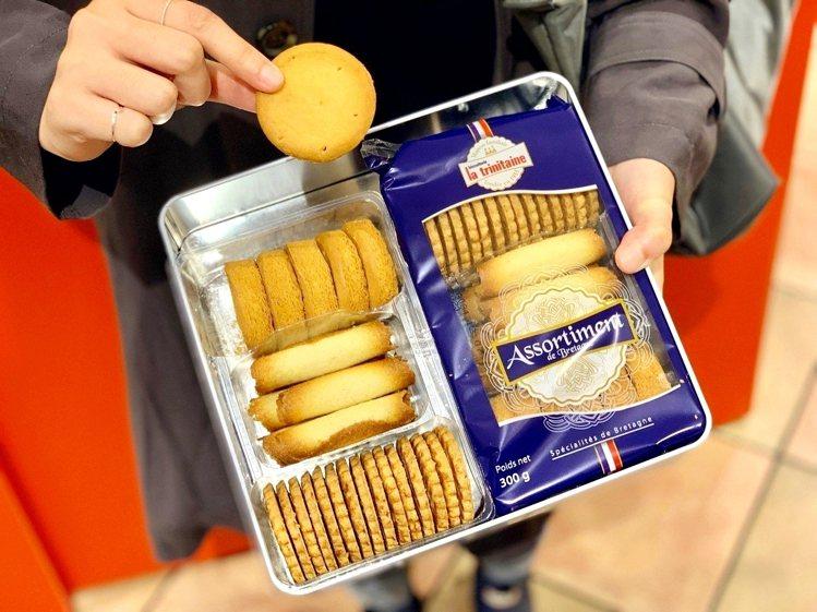 600g禮盒裝有原味薄片、厚片酥塔、層酥蛋捲三款經典商品。記者張芳瑜/攝影