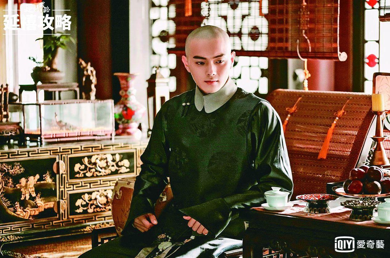 許凱在《延禧攻略》中飾演「富察傅恆」。 圖/愛奇藝台灣站提供
