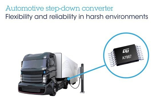 意法半導體推出新一代寬電壓DCDC開關型穩壓器A7987,為汽車系統帶來性能穩定...