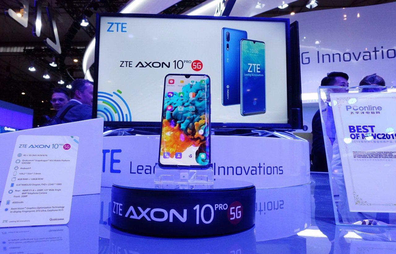 中興通訊宣佈,AXON 10 Pro 5G版手機正式開啟預售,預售價約新台幣2....