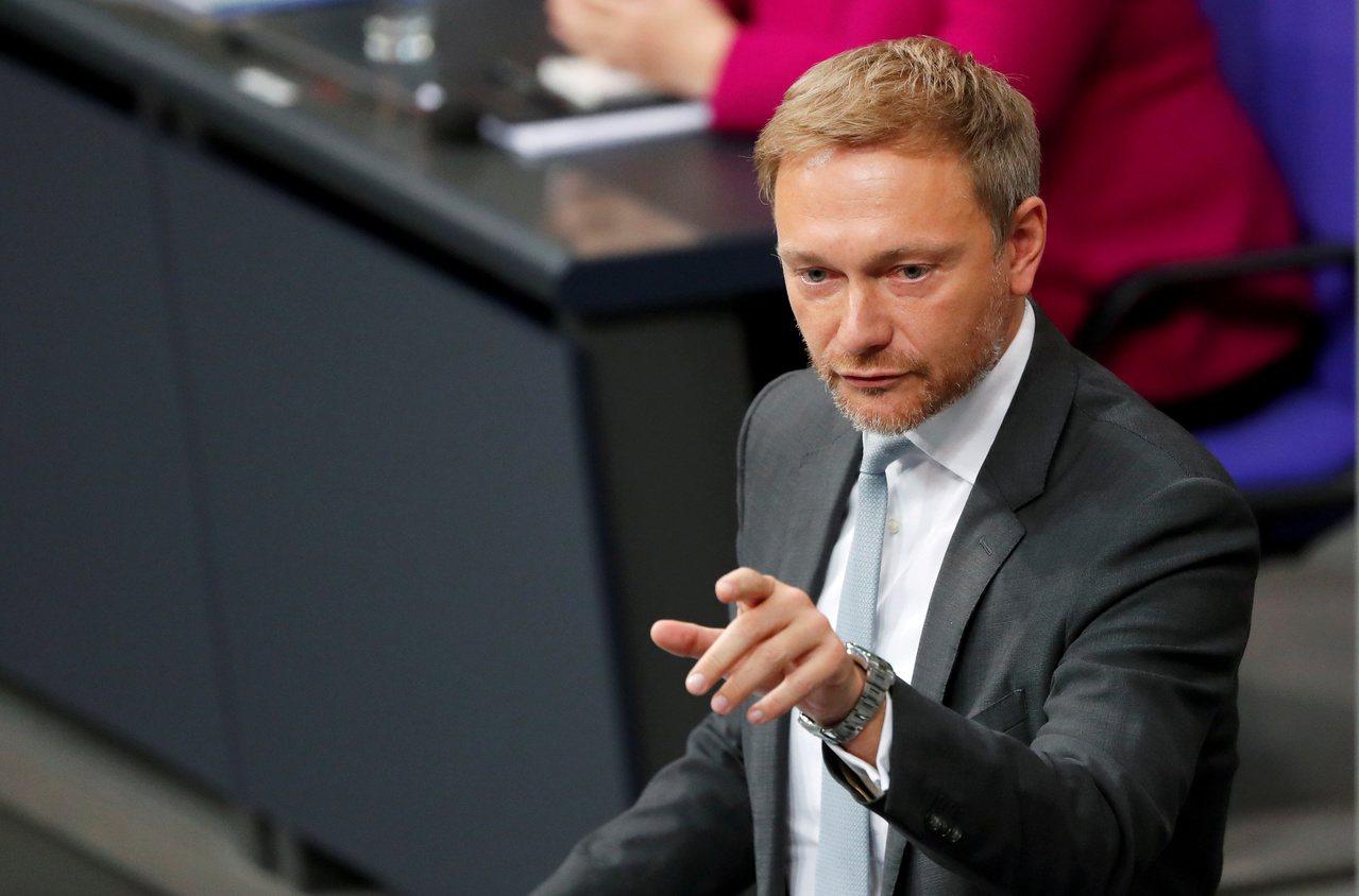 德國自由民主黨黨魁林德納。路透社