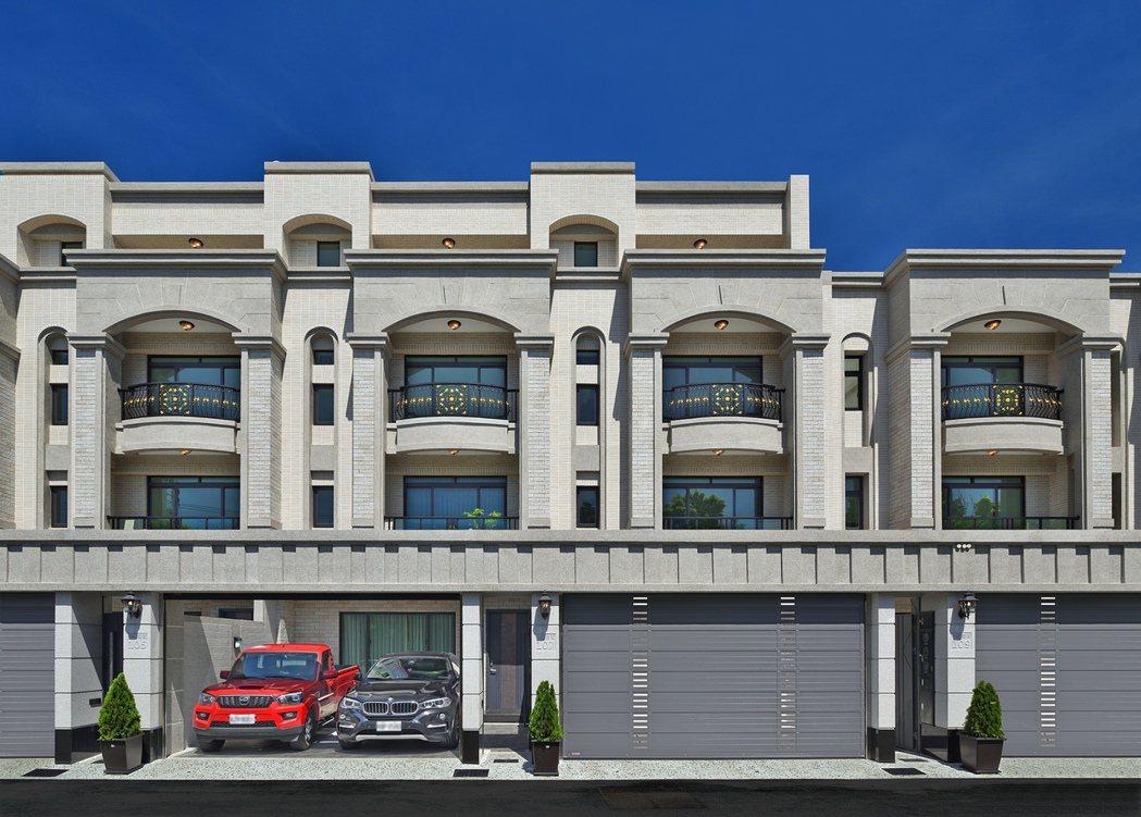 「都心院」新古典別墅。圖片提供/和闐建築事業
