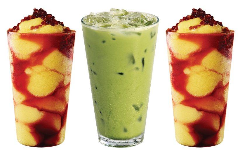 星巴克推出兩款星冰茶飲。圖/Starbucks提供