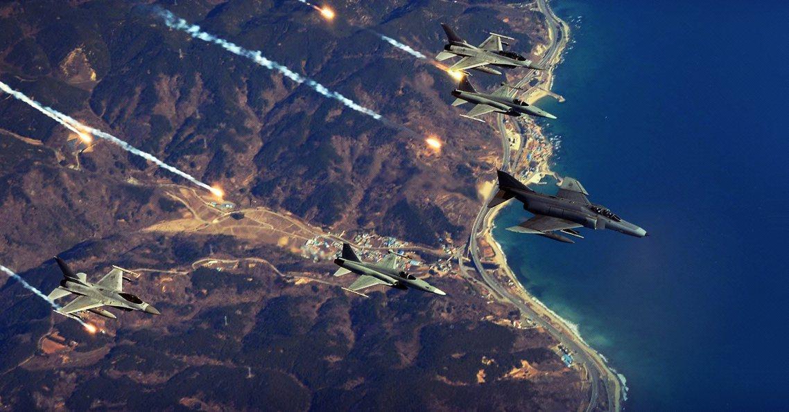 南韓政府強調,這是俄國軍機「史上第一次入侵南韓領空」,開火示警的F-16、F-1...