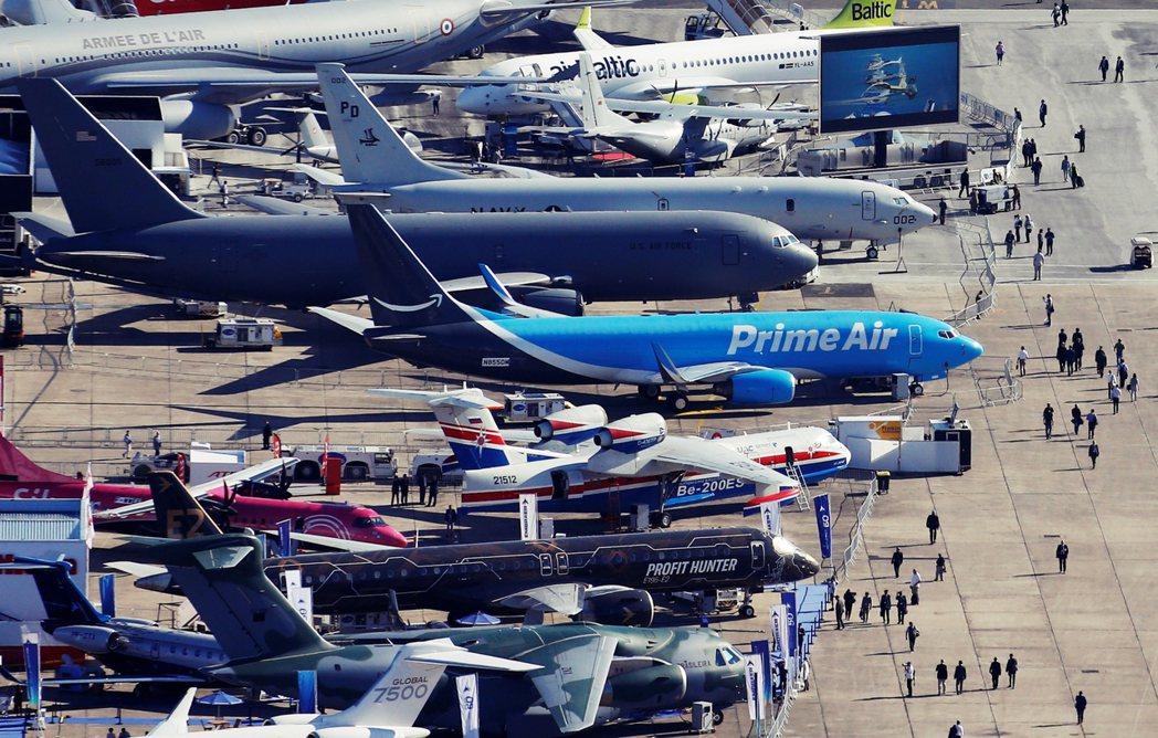 圖為2019年「巴黎航空展」。自1908年首次舉辦以來已有超過110年歷史的航空...