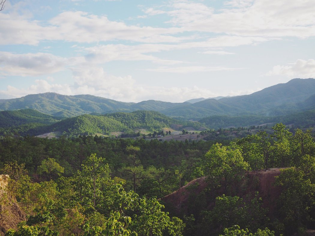 在 Pai Canyon 可以鳥瞰Pai 的天然美景。