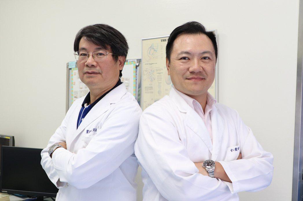 台中市大里仁愛醫院醫師林文玉(左)和楊孟寅。圖/大里仁愛醫院提供
