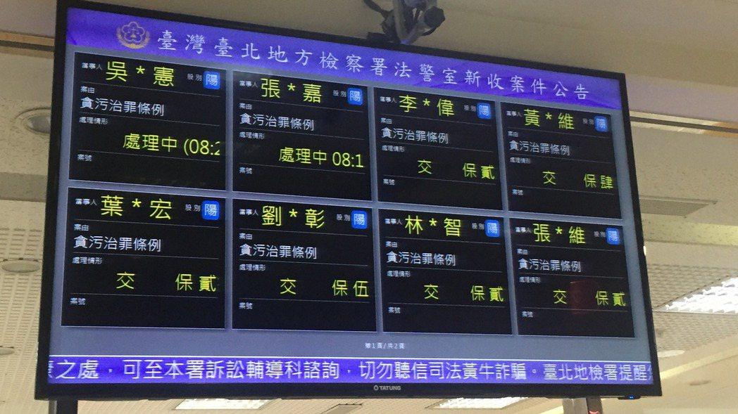 吳宗憲及張姓國安局人員有串證之虞,檢察官複訊後向法院聲押禁見。 記者賴佩璇/攝影