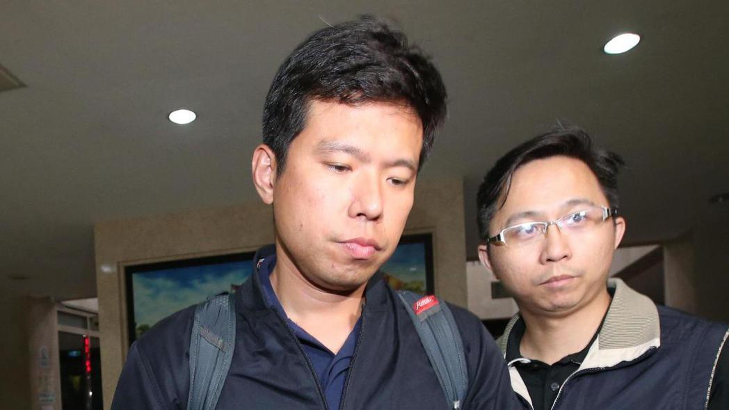 國安局少校侍衛官吳宗憲(左)被聲押。 記者葉信菉/攝影