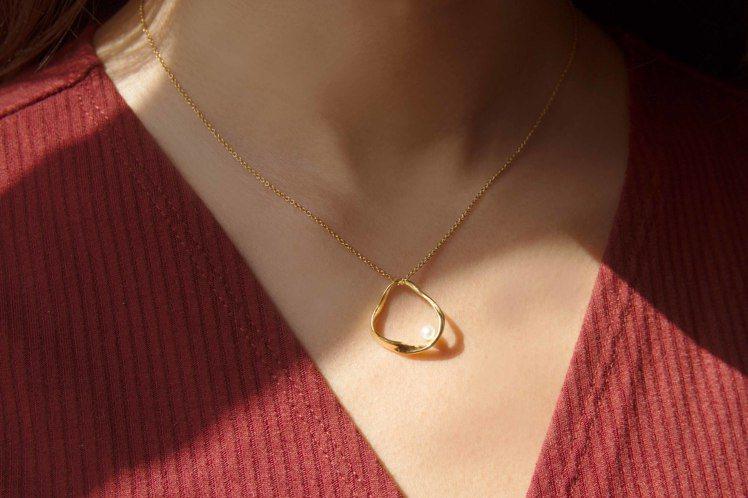 Olivia Yao Jewellery Golden Ripple項鍊,3,6...